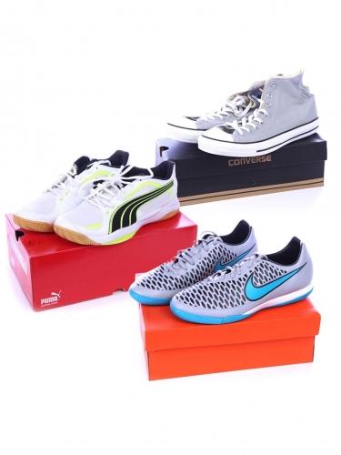 Chassures: Adidas, Nike, Puma, NB, Mustang...